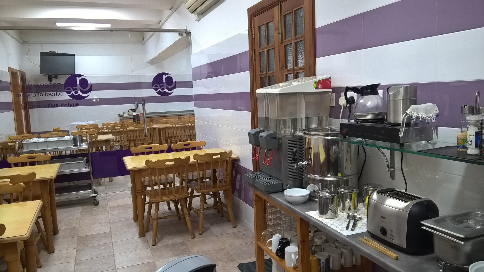 GSE Malta Adult English School Residence Breakfast room and kitchen for students (1)