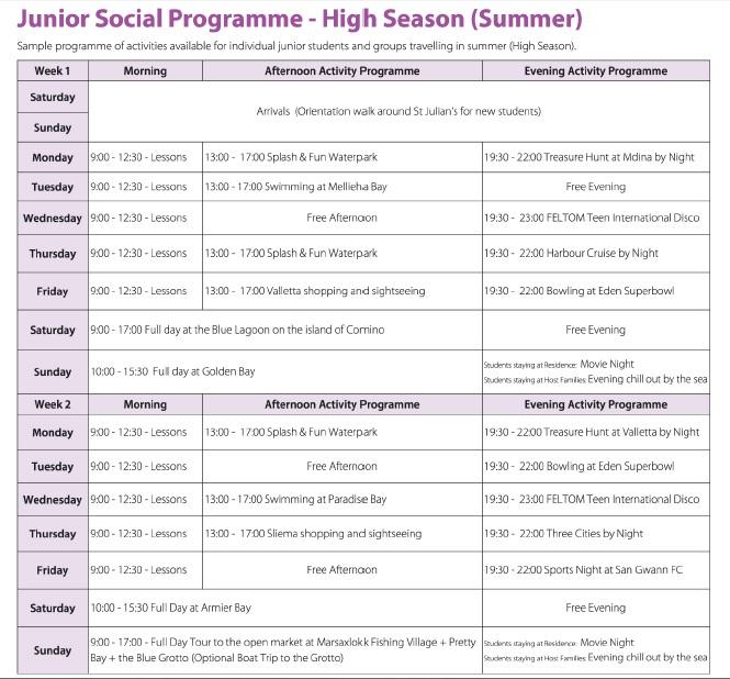 GSE Malta Junior Programmes Prices 2020 Teenagers English Courses курсы английского языка для подростков cursos de ingles para adolescentes kurzy angličtiny pro teenagery