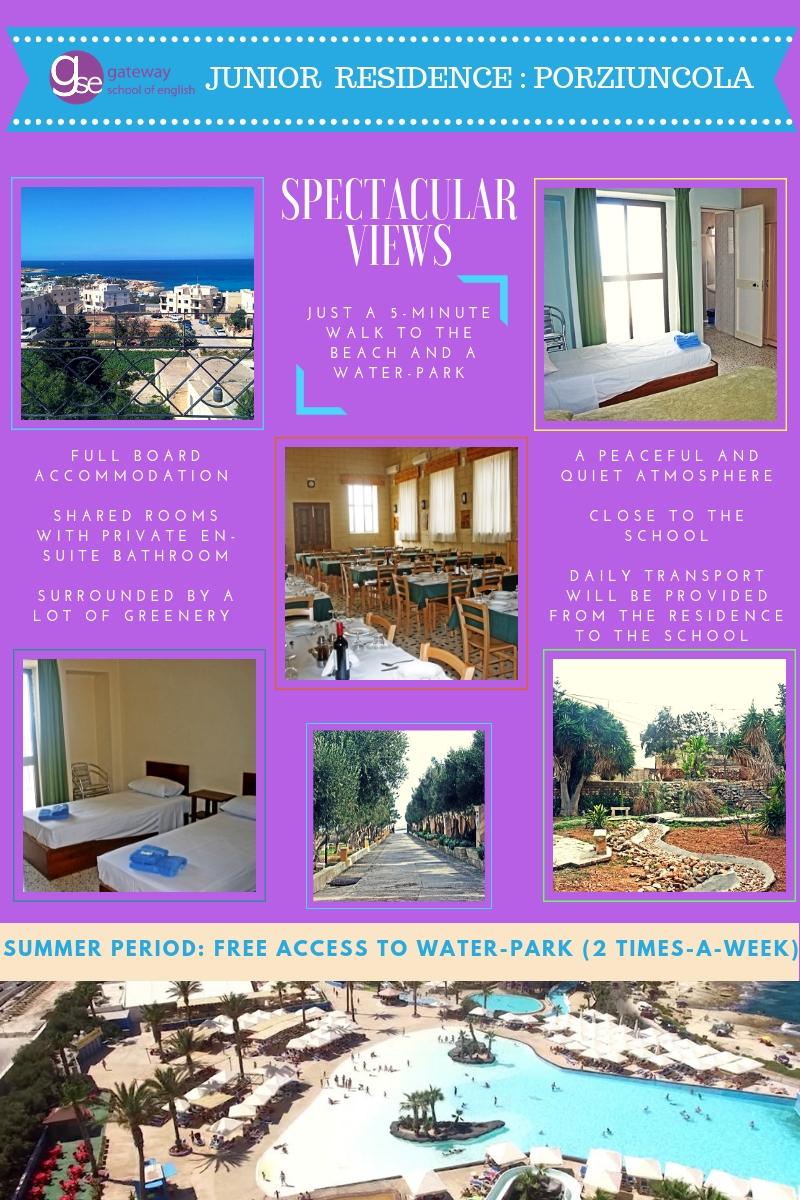 Gateway School of English Junior School Residence Malta Porziuncola for Junior Programmes for Teenagers Summer Camp