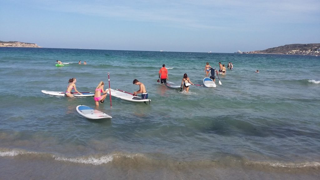 English lessons plus windsurfing school in Malta