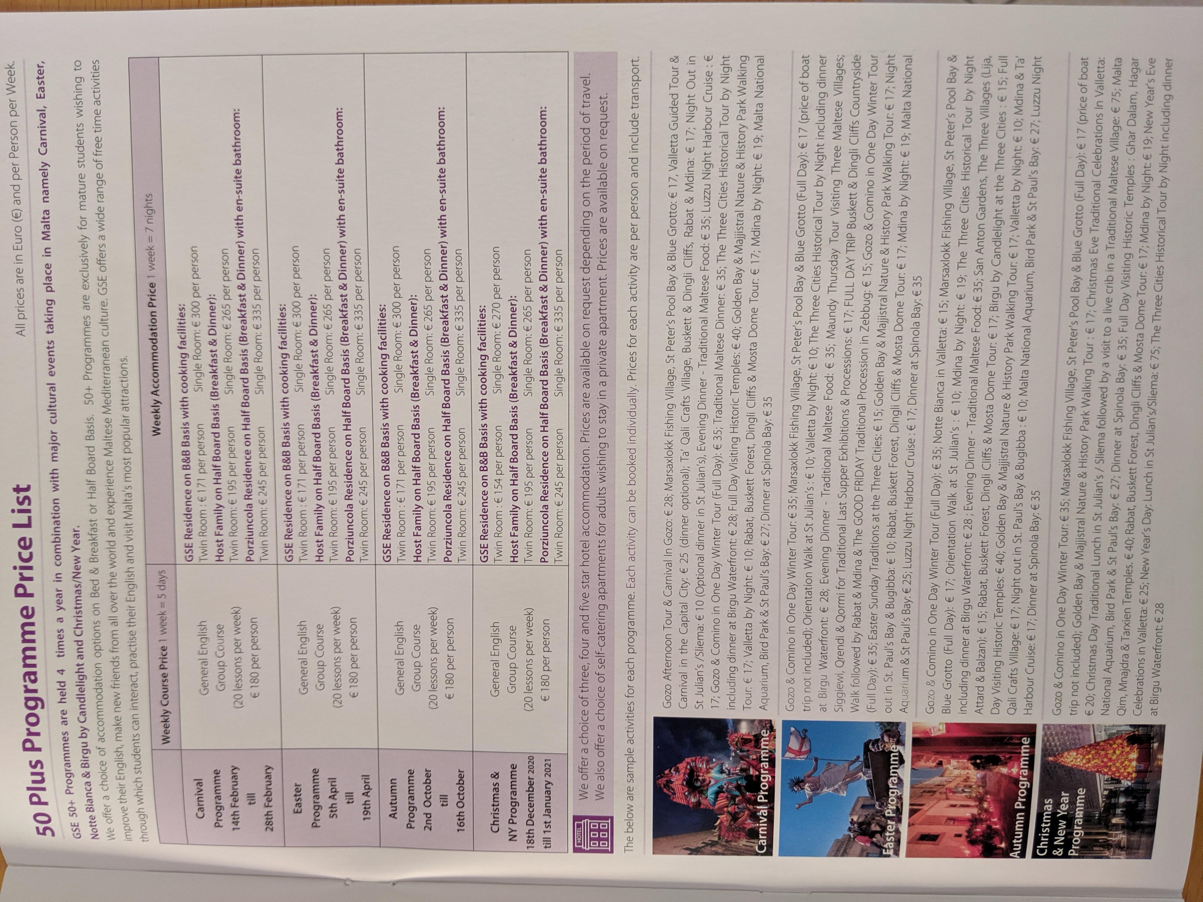 GSE Malta English 50 plus programmes 2020 (2)