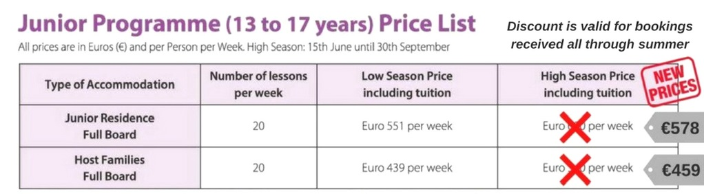 Special Summer Prices - GSE Junior Programmes for Individuals
