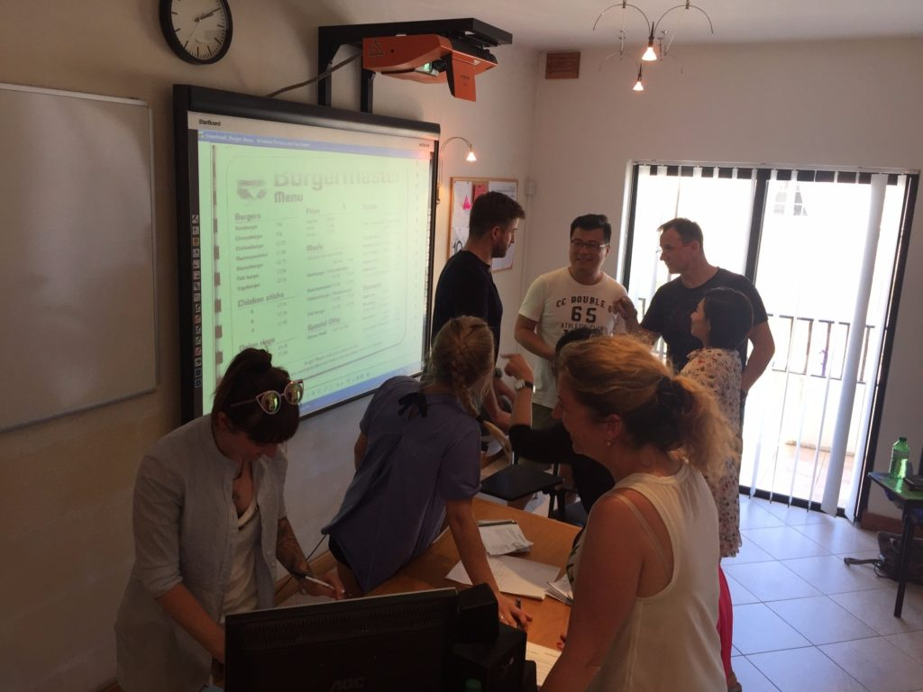 ESL Malta English language learning students