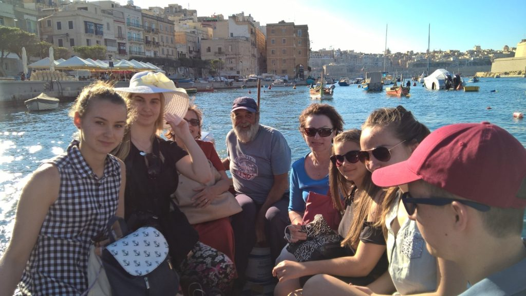 English language students in Malta during their free time at the Three Cities