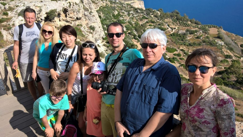 ESL students at Dingli Cliffs Malta learning English