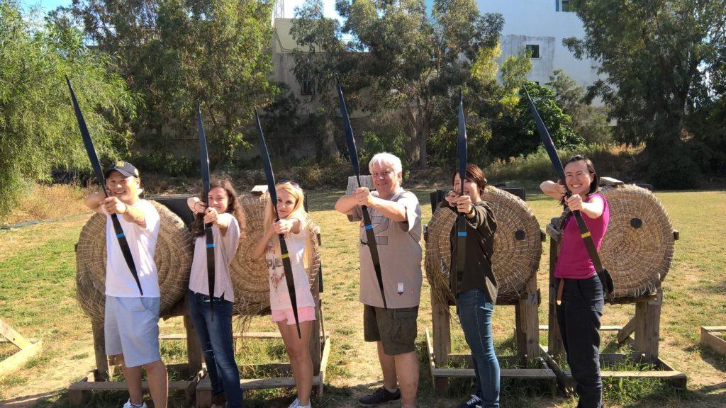 ESL students archery Malta studying English