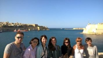 International students learning English in Malta at the three cities