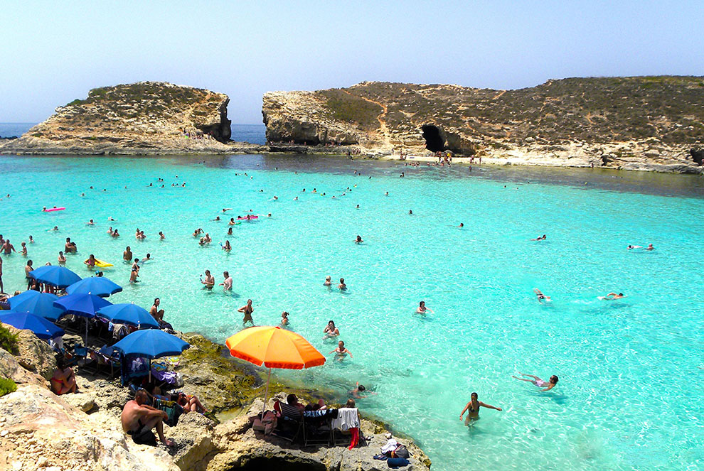 Blue Lagoon while studying English in Malta GSE