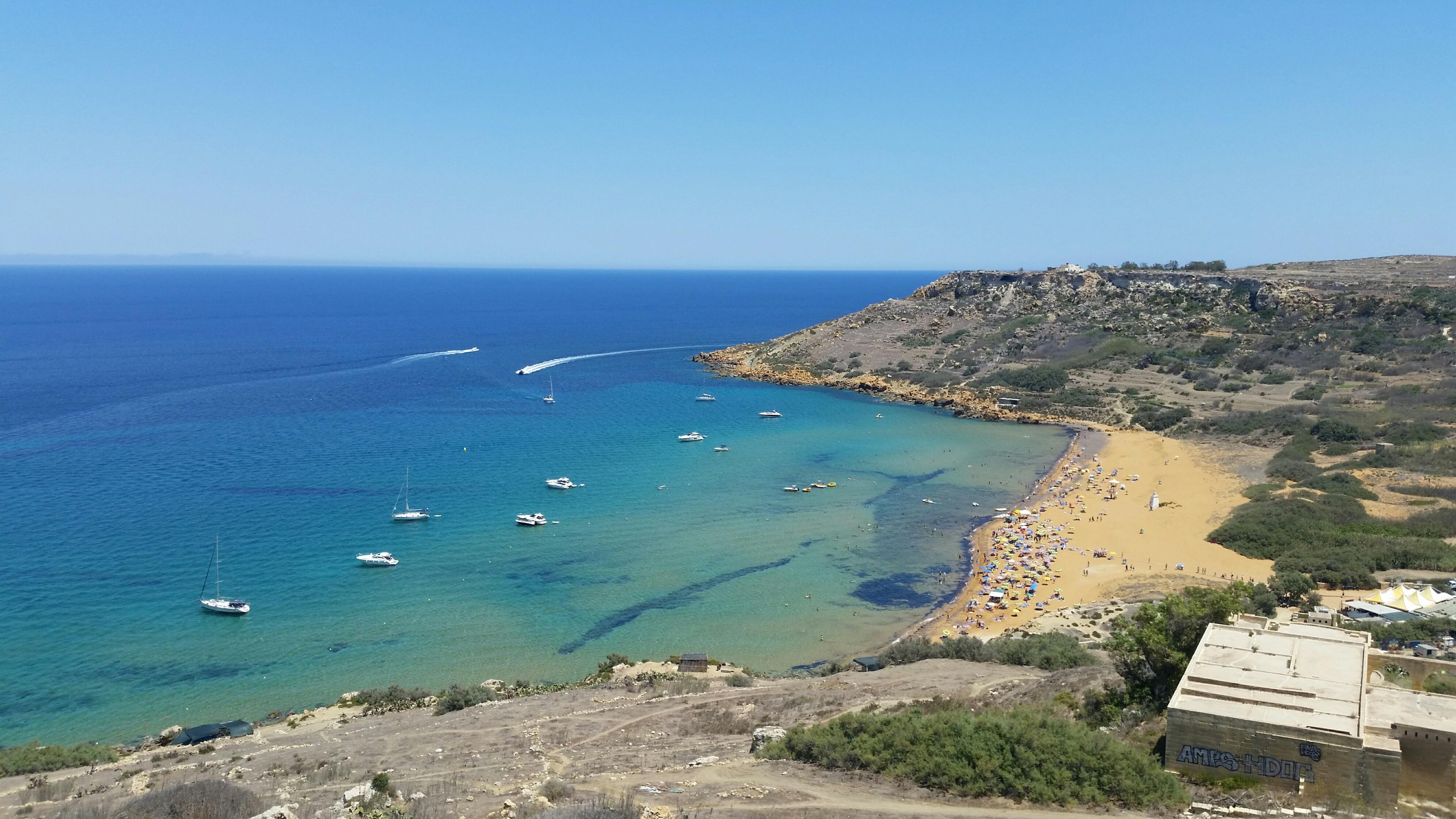 GSE Malta Ramla Bay in Gozo - Gozo's finest sandy beach