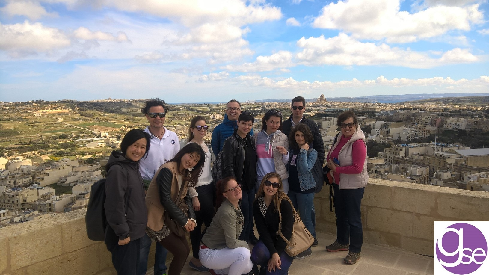 GSE Malta Social Programme Gozo & Comino Full Day group photo at the Citadel