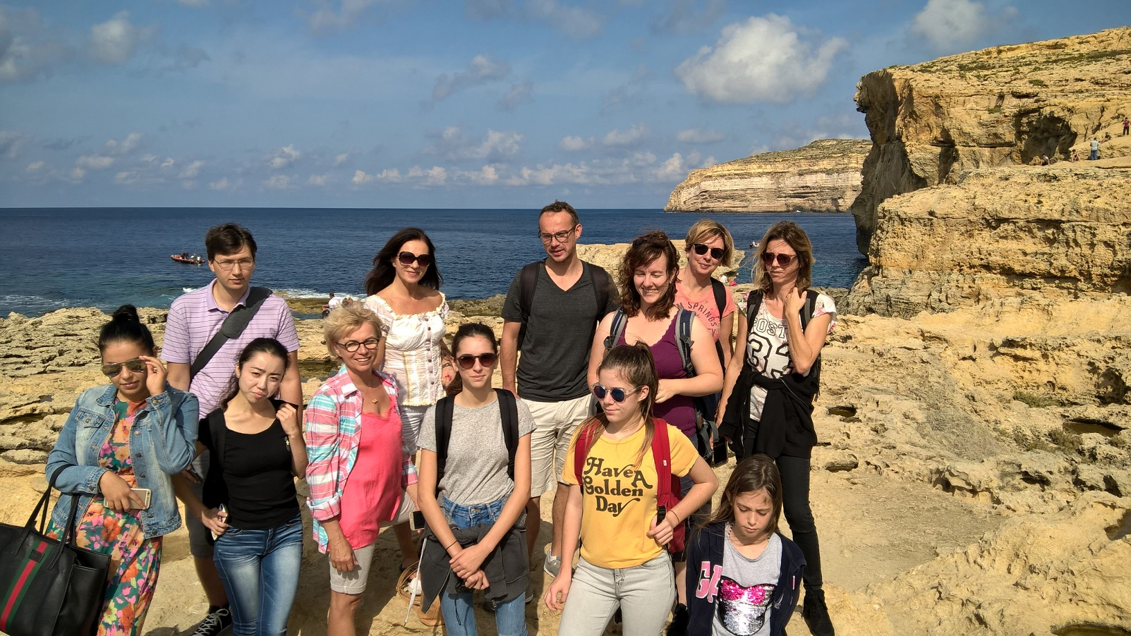 Gateway School of English GSE - Students at the former Azure window site in Gozo
