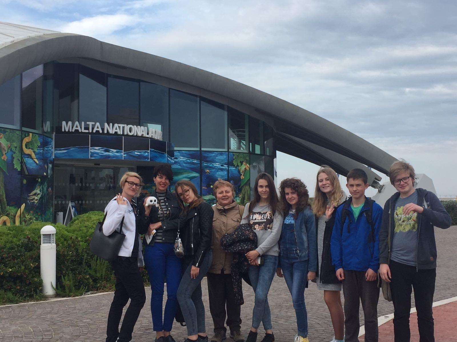 Gateway School of English students at the Malta National Aquarium