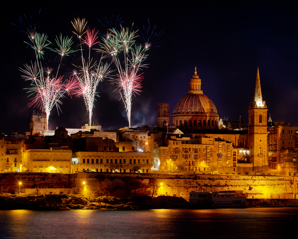 New Year's Eve in Malta while studying English with Gateway School of English