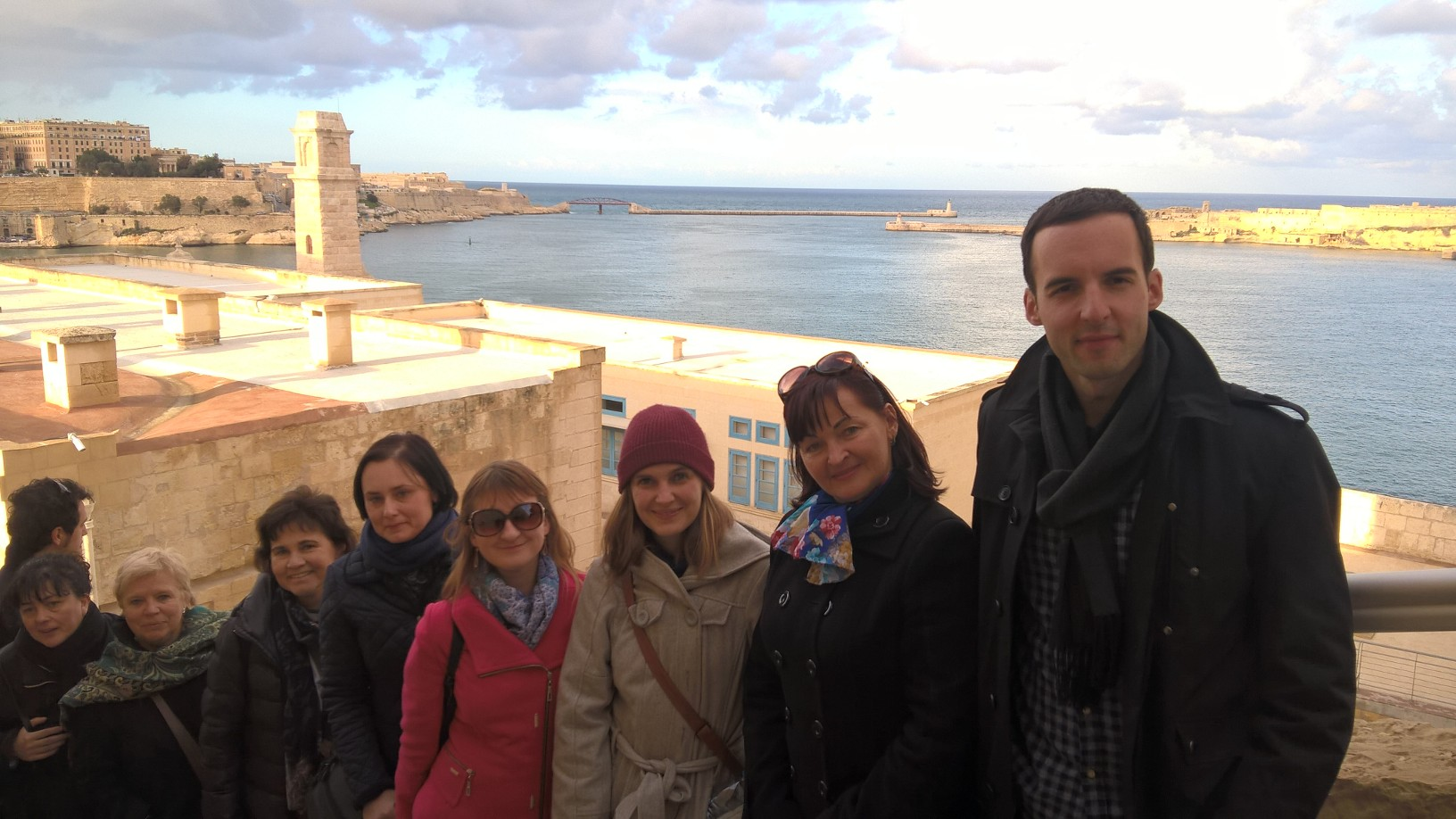 GSE FAM Trip 2018 - Agents at Fort St Angelo