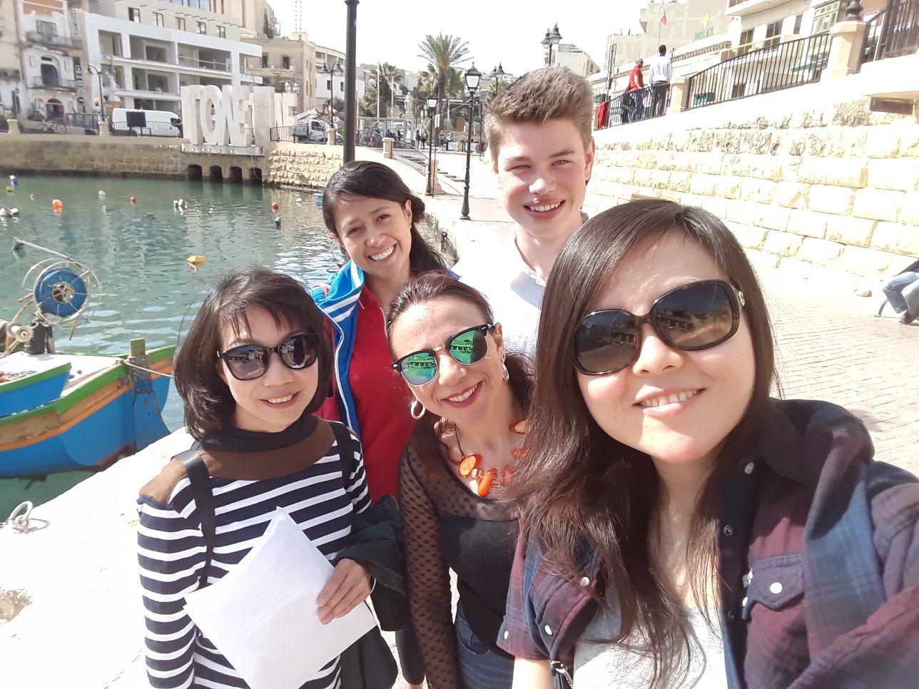 Gateway School of English studium angličtiny v maltě skvělý mix zahraničních studentů v naší třídě - kurzy v zahraničí Malta