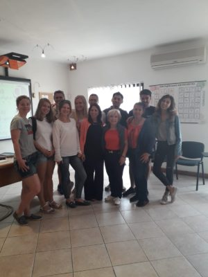 GSE Malta English school General English Intermediate Class great mix of nationalities- Students from Germany France Estonia China Turkey Colombia Brazil