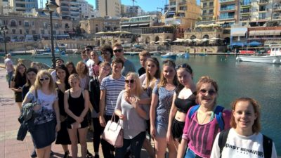 Gateway School of English GSE Malta Summer Junior Programmes for teenagers 13 to 17 years - Orientation Walk St Julians Bay