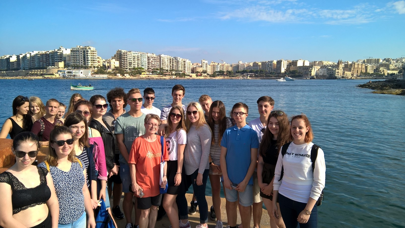 Gateway School of English GSE Malta Summer Junior Programmes for teenagers 13 to 17 years - Orientation Walk St Julians Portomaso Marina