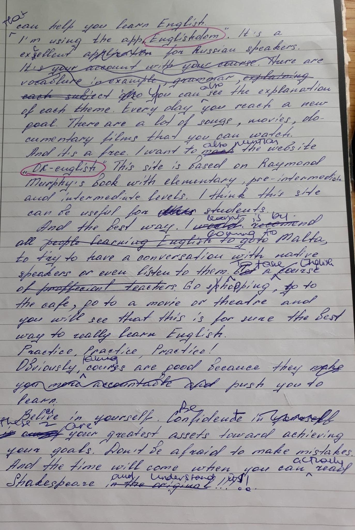 Ukrainian student's feedback of learning English in Malta with Gateway School of English