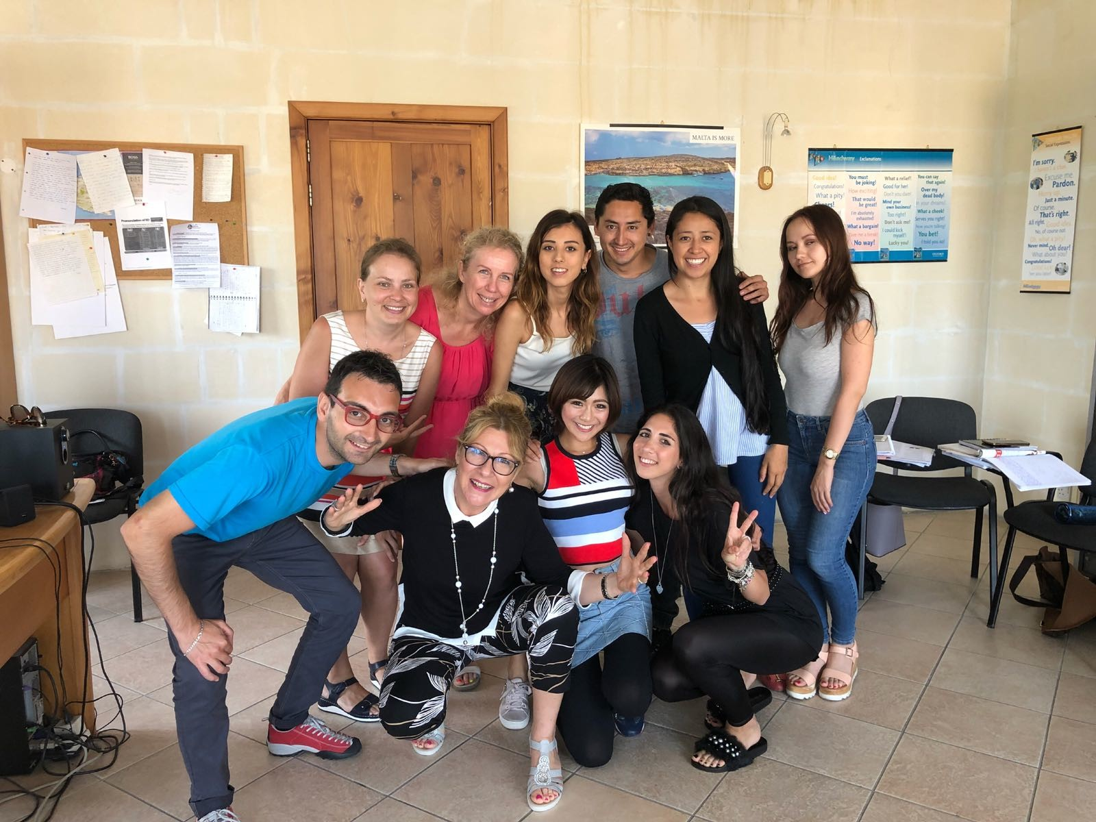 Gateway School of English GSEの国際英語学校マルタの学生は世界中の英語を学ぶ
