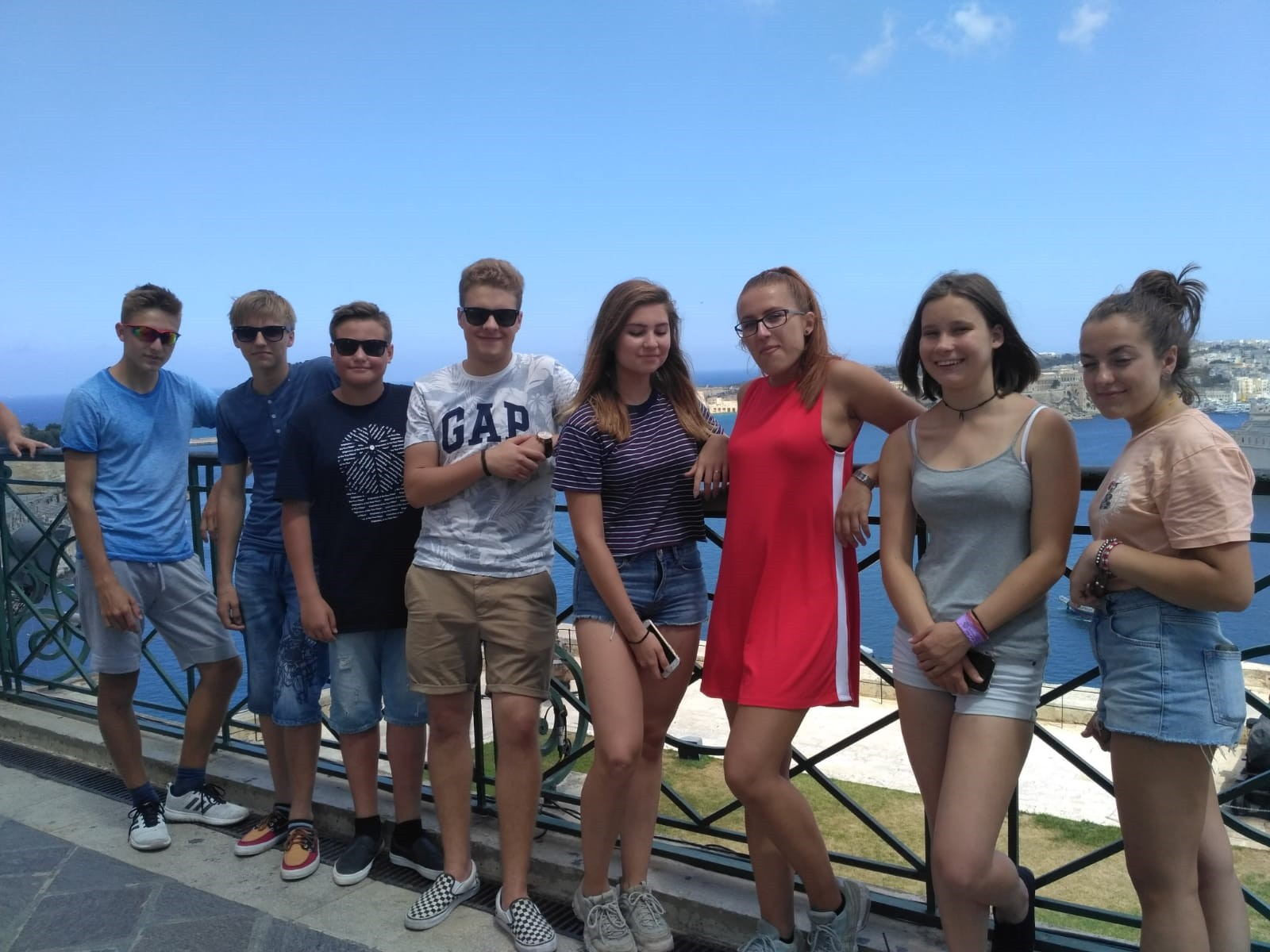 GSE Junior English Programmes Malta Teenagers during Valletta Tour