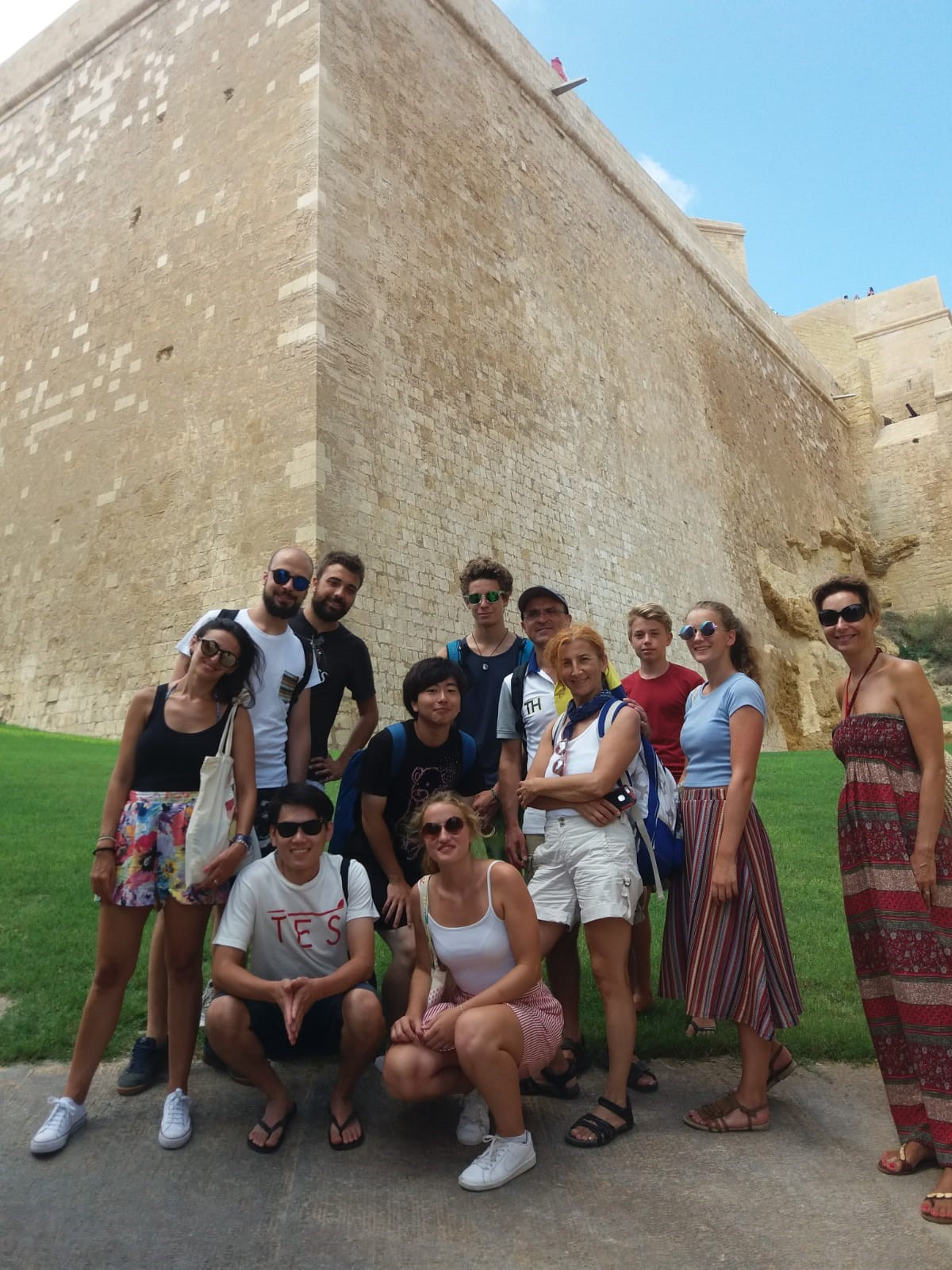 Gateway School of English GSE Gozo and Comino trip - students at the Gozo Citadel and fortifications