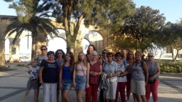 Gateway English School and Courses in Malta students at Upper Barraka Gardens in Valletta