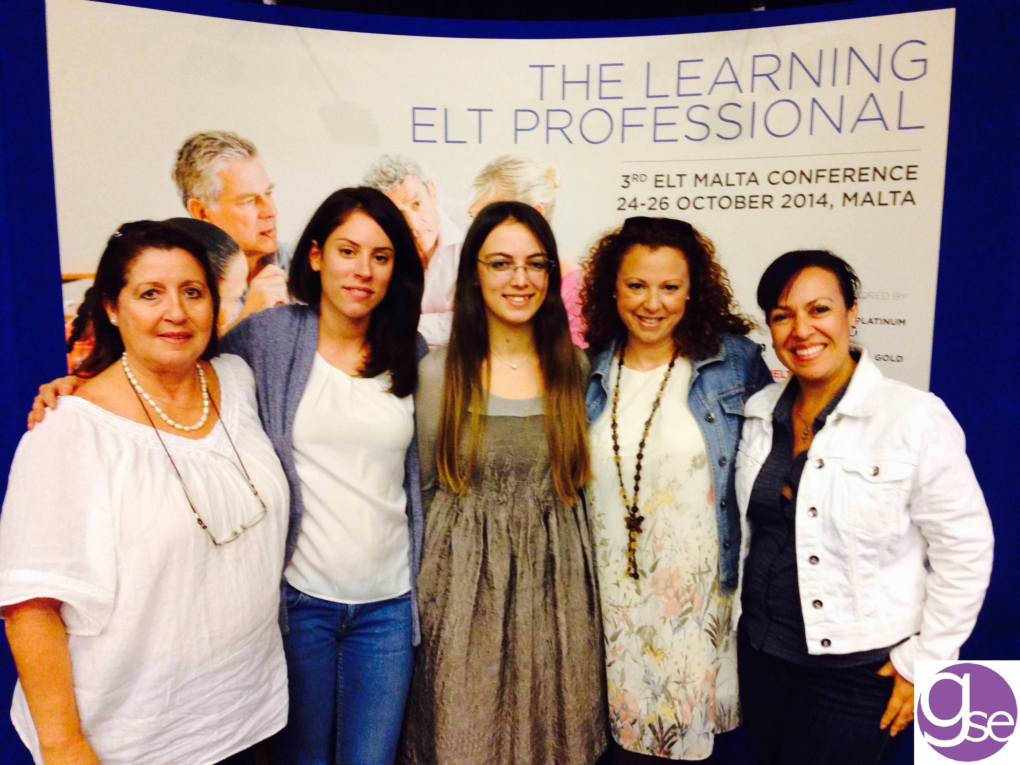 GSE Malta Ingilizce Kursu Akademik Takimi ELT Konferansinda iken