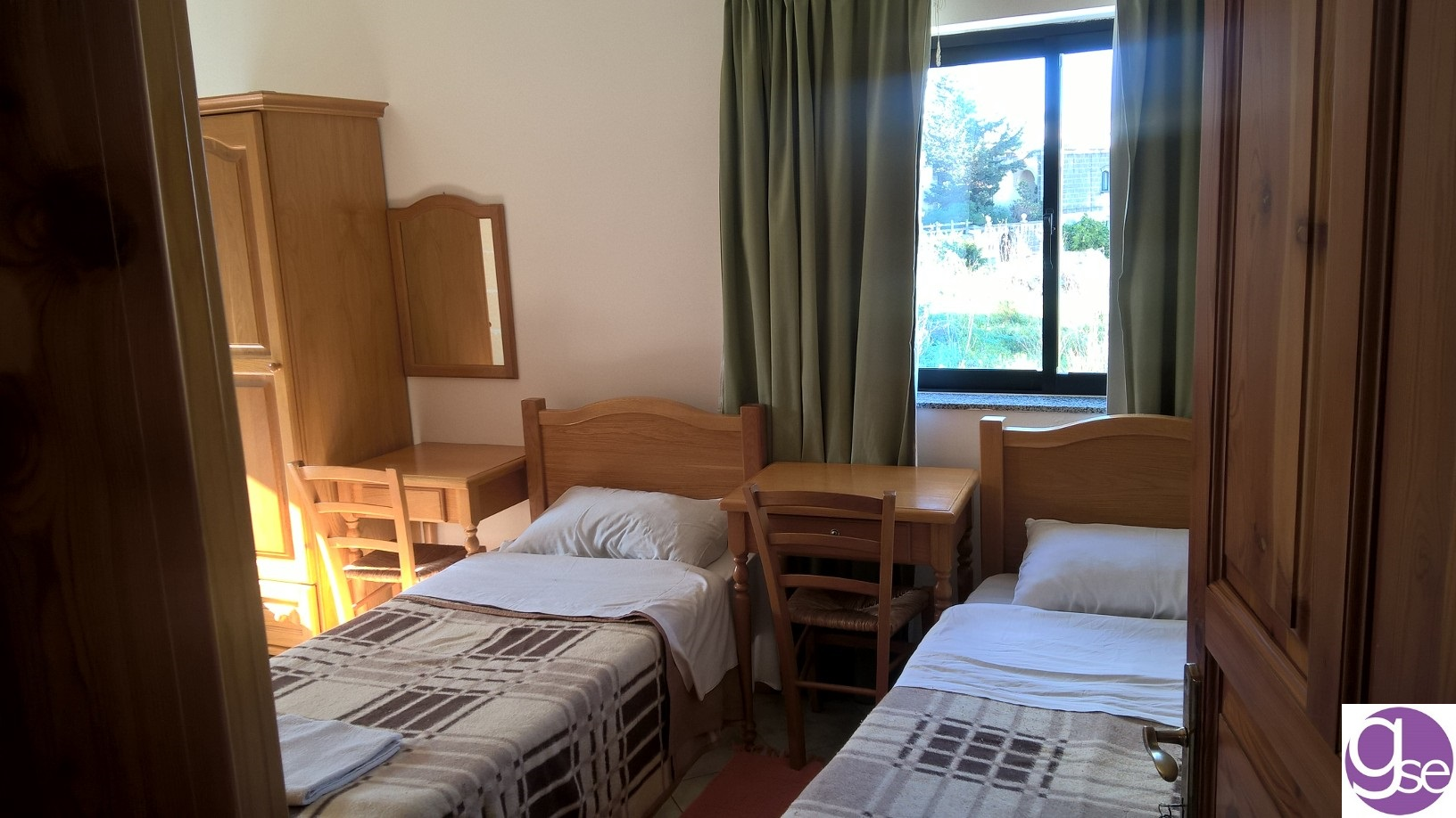 GSE Malta dil okulu yurt konaklamasi iki kisilik odalar