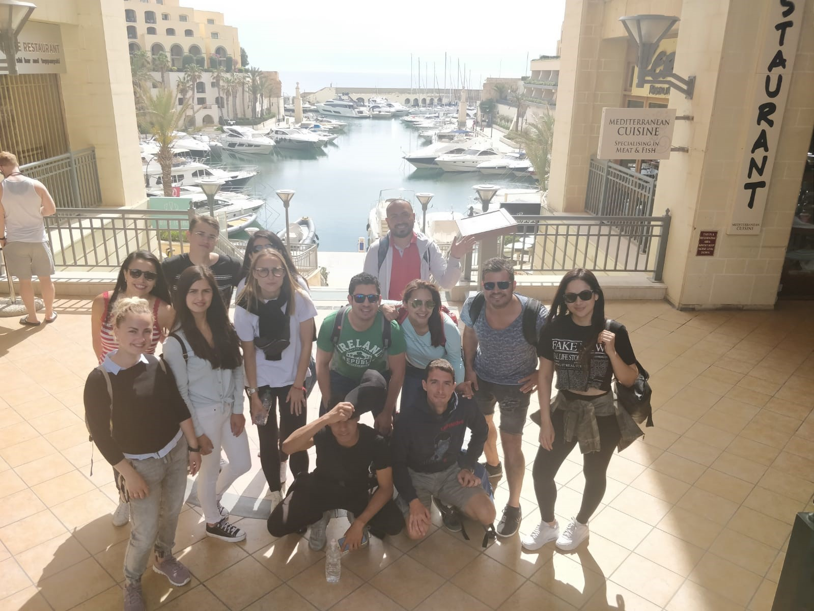 English language school international students in St Julians for English lessons held outside