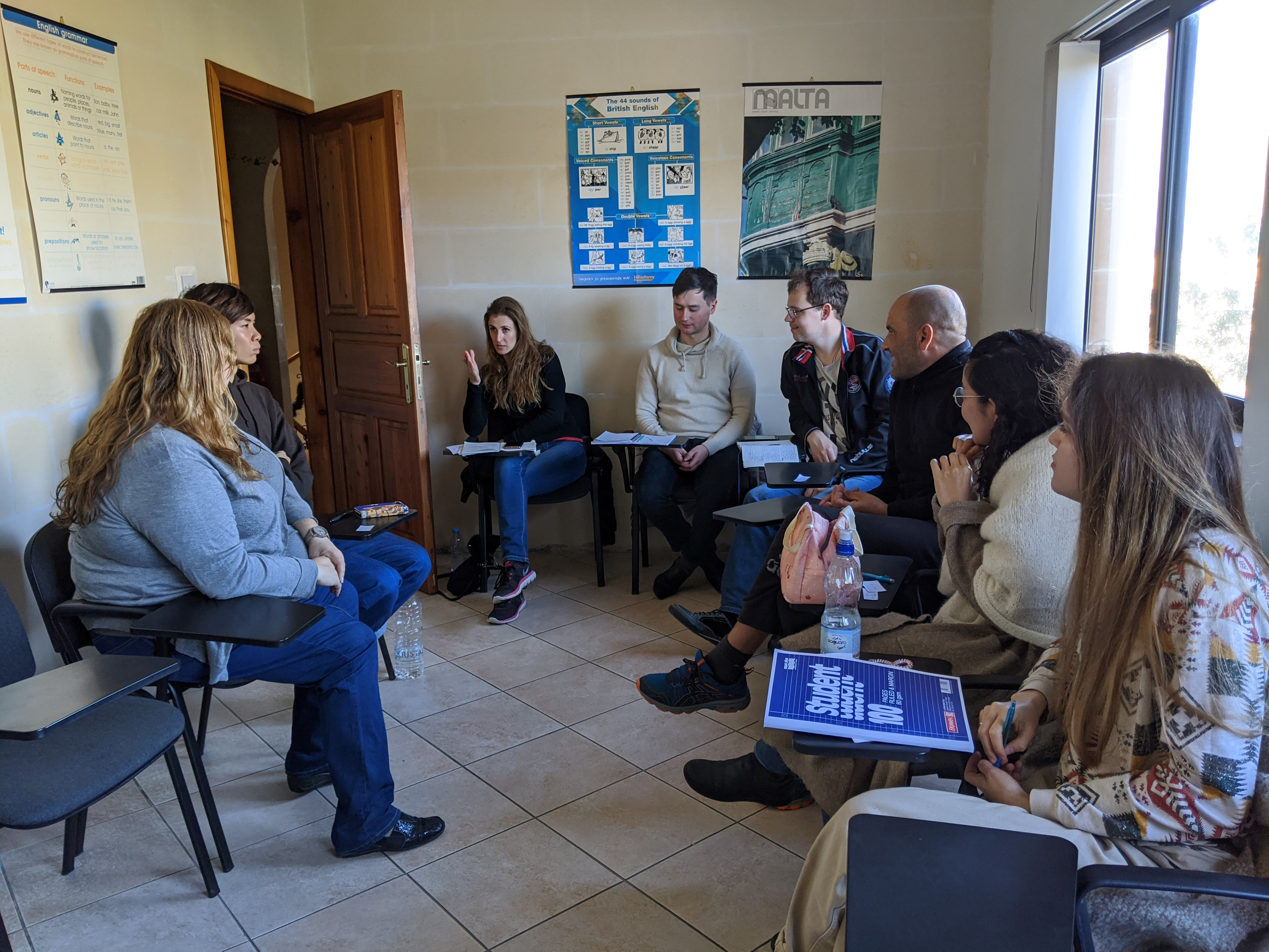 English Speaking Conversation classes as part of the Intensive English at GSE Malta (2)