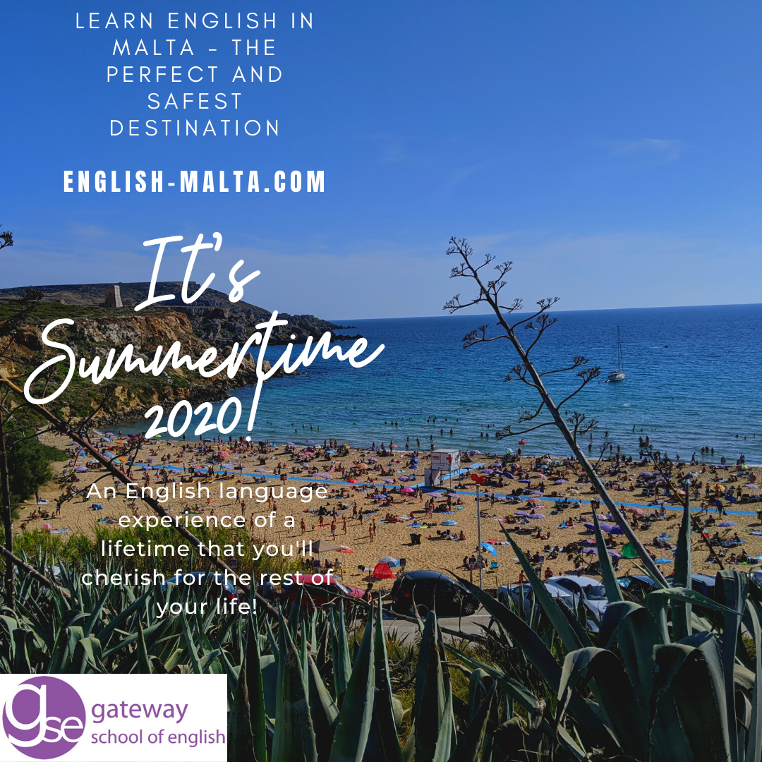 English courses in Malta for adults juniors and families in Summer 2020