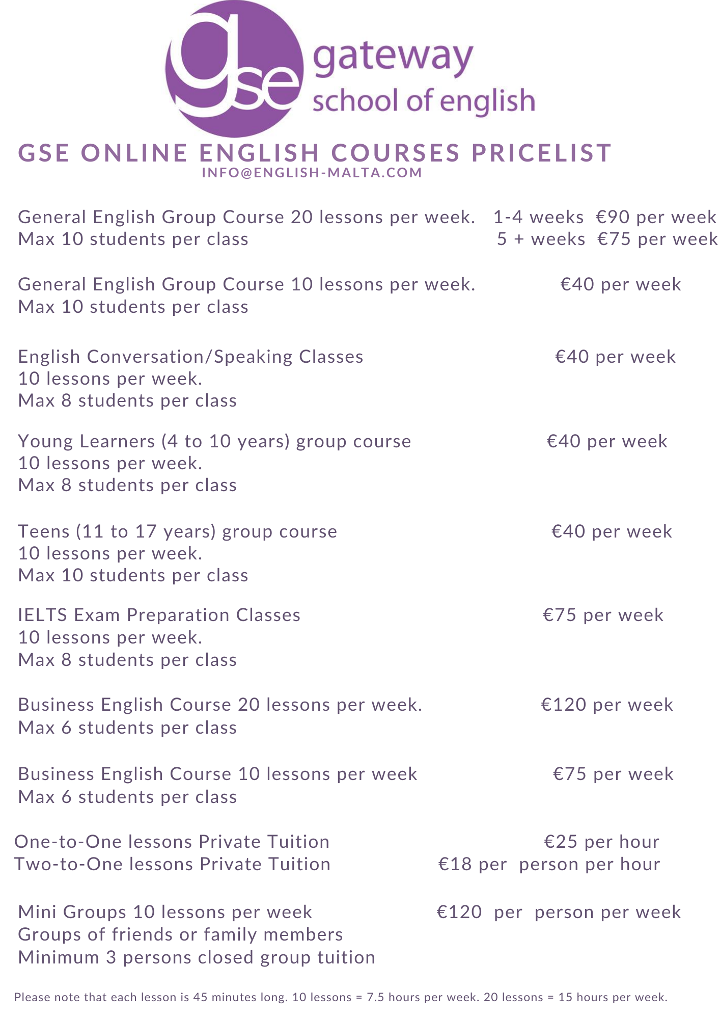 English online courses for all ages with Gateway School of English GSE