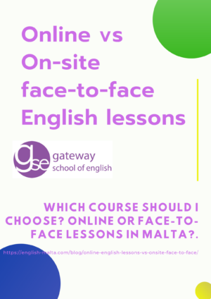 English courses online vs Face-to-Face classes Gateway School of English GSE