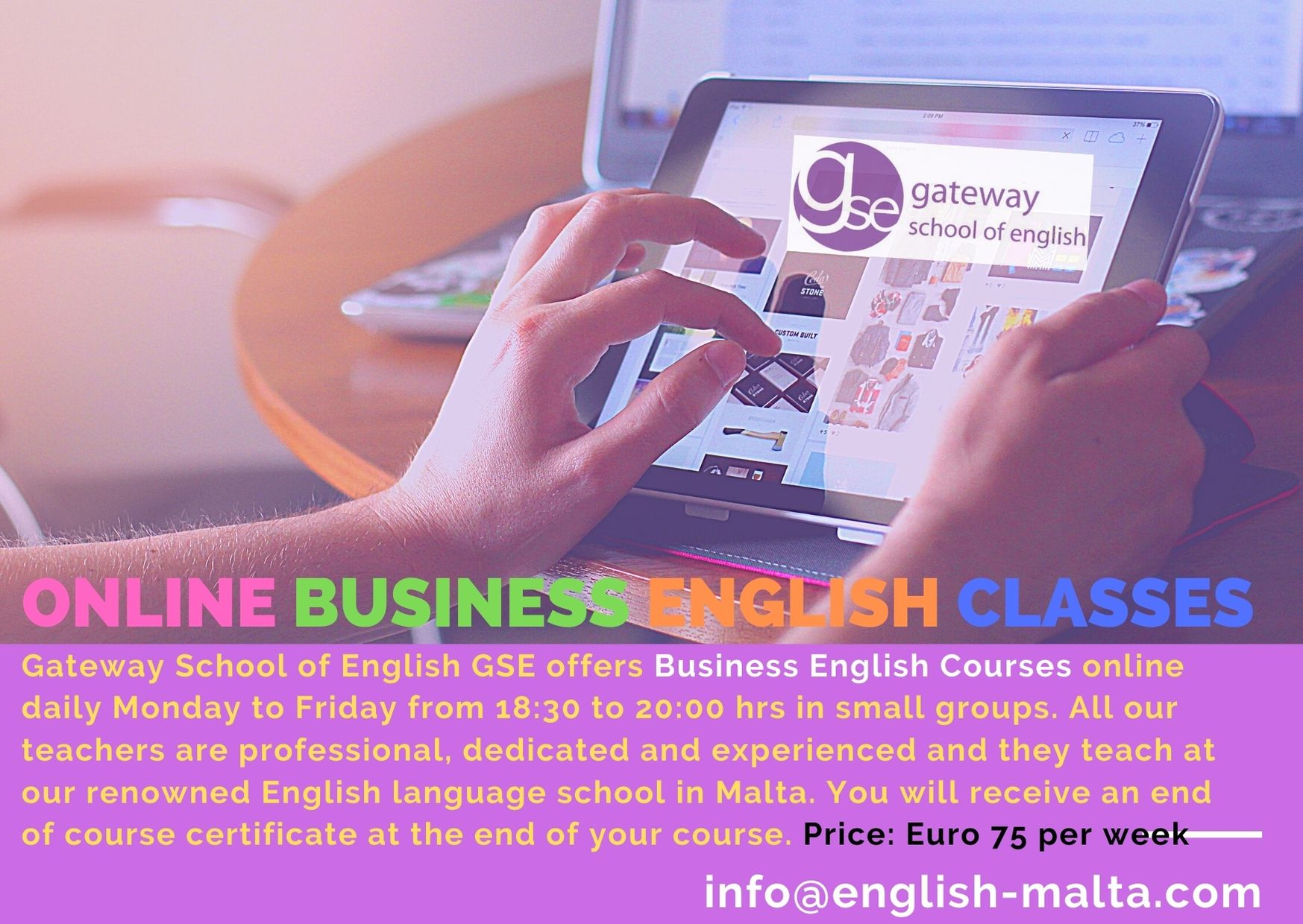Online Business English classes with Gateway School of English GSE