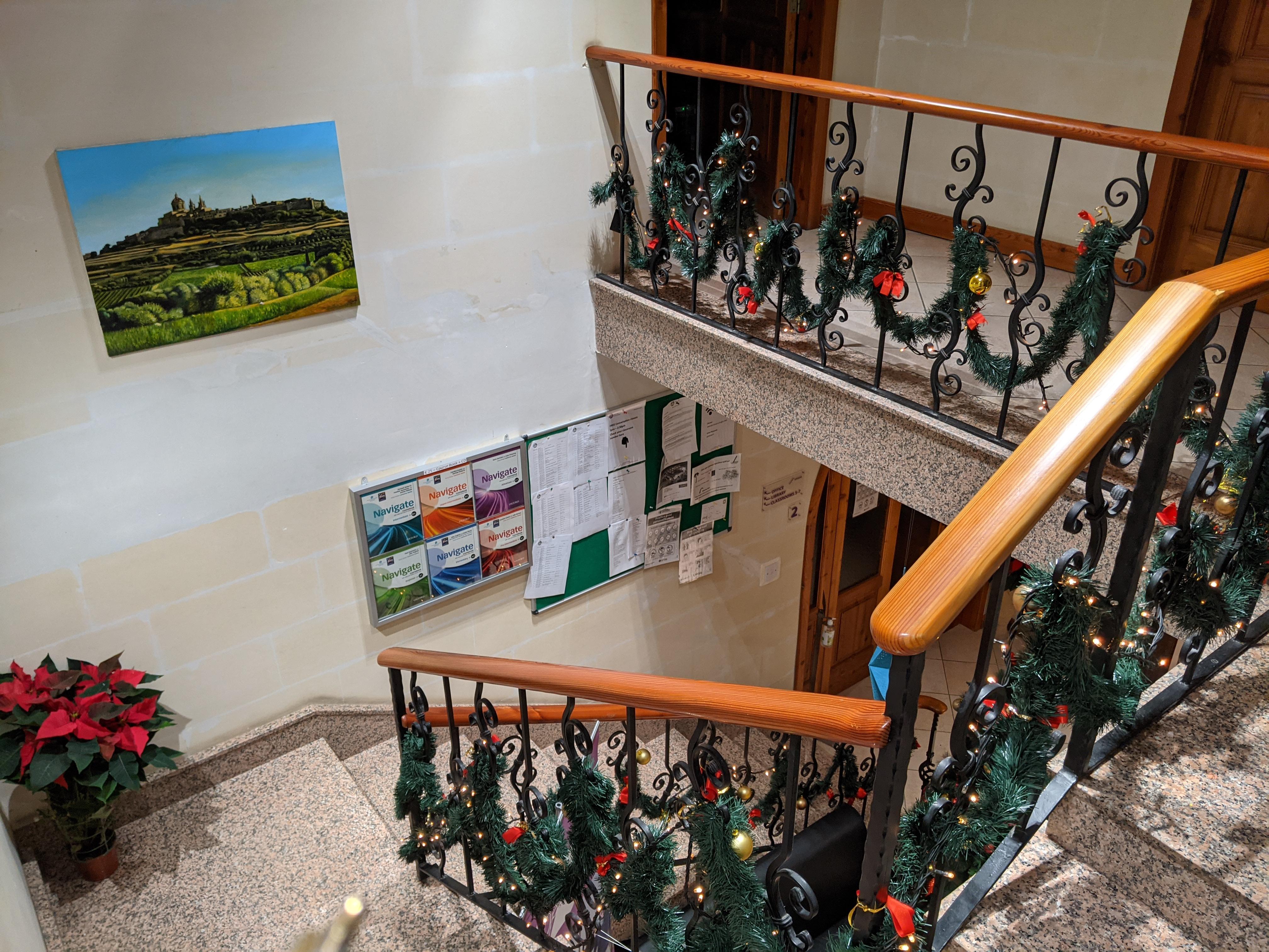 étudier l'anglais à Noël à Malte à l'école d'anglais Gateway