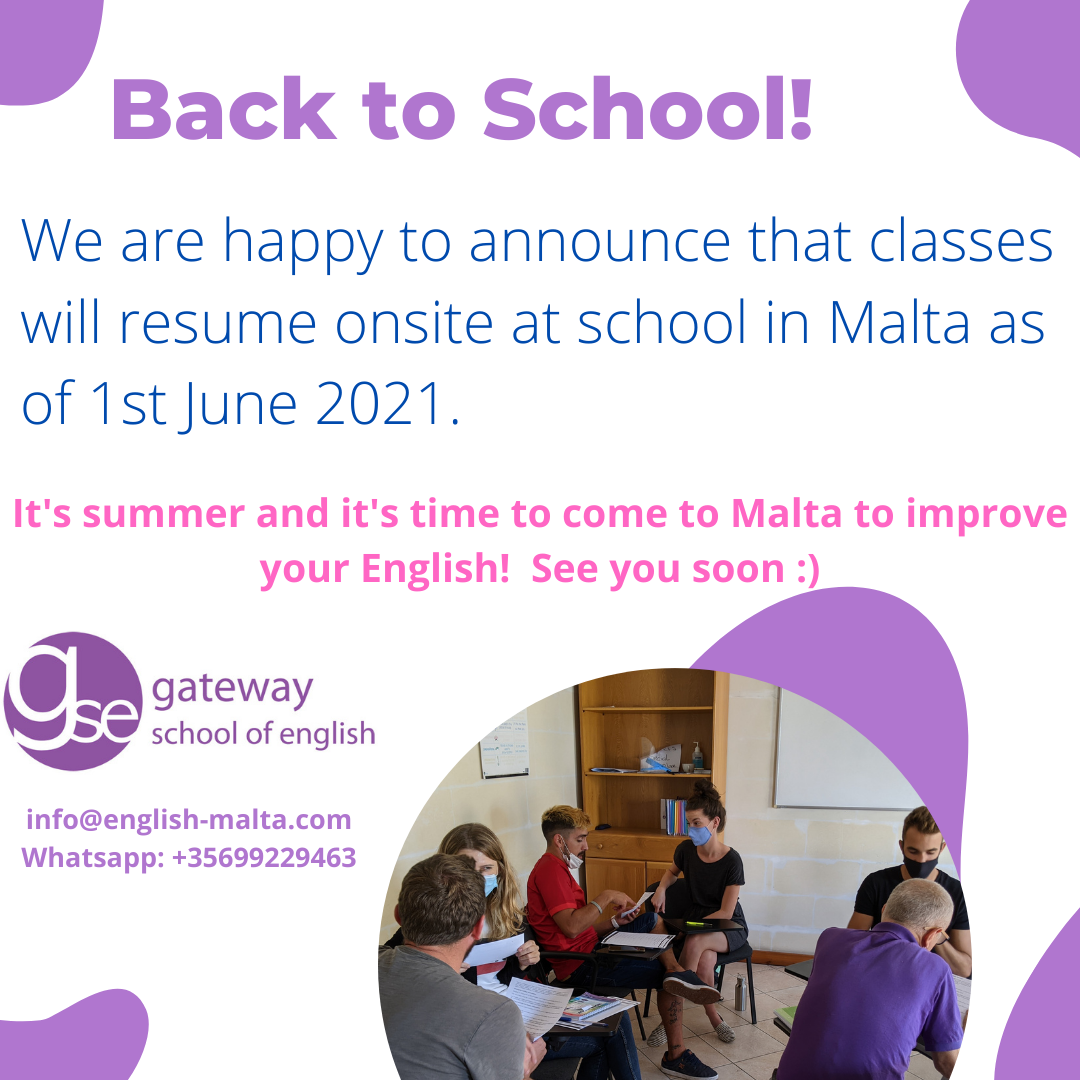 English School Malta June 2021 Gateway School of English GSE